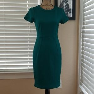 H&M green fitted dress size small